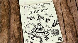 In game image of Andy's Notepad [Saucers] on the Microsoft Xbox Live Arcade.